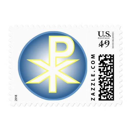 Chi Ro Christian Stamp