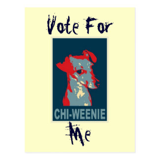 Chi-weenie Obama Hope Style POSTCARD