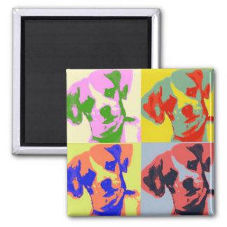 Chi-Weenie Pop Art 2 Inch Square Magnet