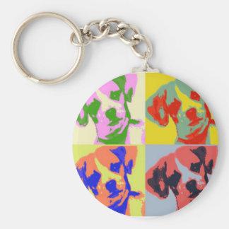 Chi-Weenie Pop Art Basic Round Button Keychain