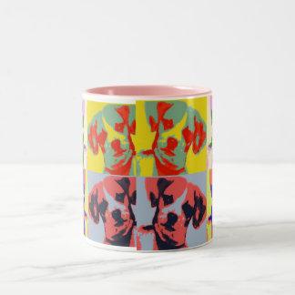 Chi-Weenie Pop Art Two-Tone Coffee Mug