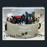 "Chi Yum Yum 2018 Calendar<br><div class=""desc"">Welcome each month into a new year with a new adorable Chi Yum Yum Photo.  Sure to bring smiles to everyone.