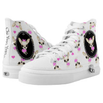 Chi Yum Yum High Top Sneakers wemblem Logo (white)