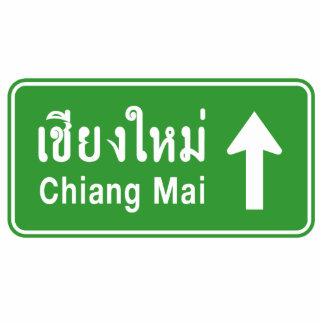 Chiang Mai Ahead ⚠ Thai Highway Traffic Sign ⚠ Cutout
