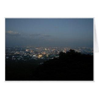 Chiang Mai en la noche Tarjeta De Felicitación
