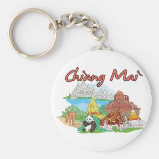 Chiang Mai, Thailand Famous City Keychain