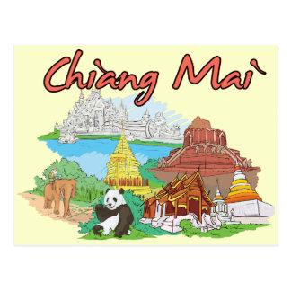 Chiang Mai, Thailand Famous City Postcard