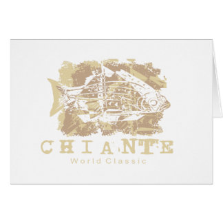 Chiante Fish Tshirts and Gifts Greeting Cards