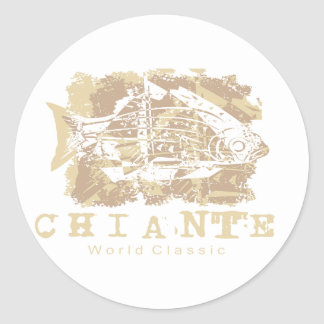 Chiante Fish Tshirts and Gifts Stickers