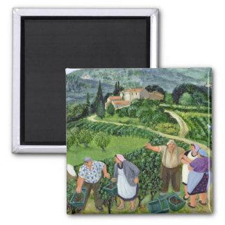 Chianti Classico Villa Trasqua 2 Inch Square Magnet