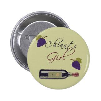 Chianti Girl Pinback Button