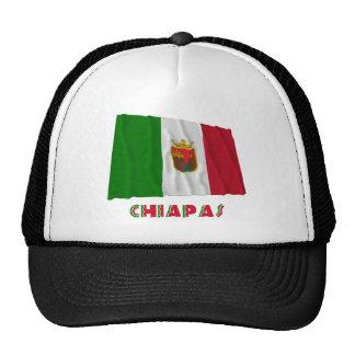 Chiapas que agita la bandera oficiosa gorros