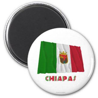 Chiapas que agita la bandera oficiosa iman de nevera