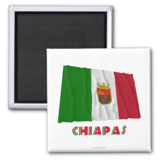 Chiapas que agita la bandera oficiosa imán de nevera