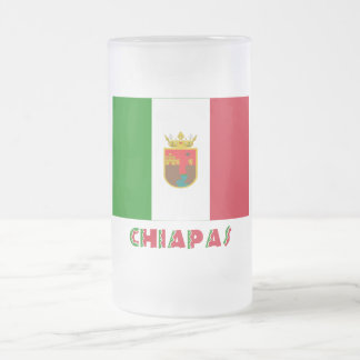 Chiapas Unofficial Flag 16 Oz Frosted Glass Beer Mug