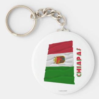 Chiapas Waving Unofficial Flag Keychains
