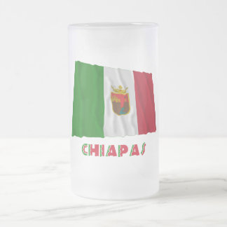 Chiapas Waving Unofficial Flag 16 Oz Frosted Glass Beer Mug