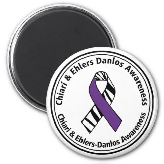 Chiari and EDS Zebra Stripe Ribbon Magnet