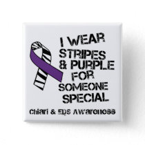 Chiari and Ehlers Danlos Awareness Ribbon Button