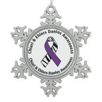 Chiari and Ehlers Danlos Awareness Ribbon Ornament
