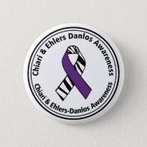 Chiari and Ehlers Danlos Syndrome Awareness Button