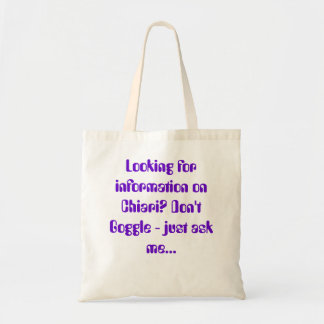 Chiari Awareness Tote Bag