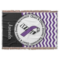Chiari & EDS Awareness Monogram Throw Blanket