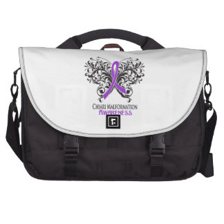 Chiari Malformation Awareness Butterfly Laptop Bag