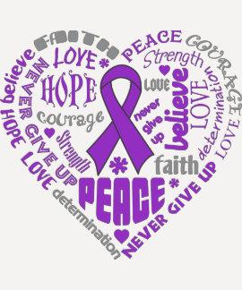 Chiari Malformation Awareness Heart Words T-Shirt