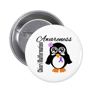 Chiari Malformation Awareness Penguin 2 Inch Round Button