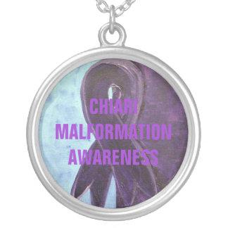 CHIARI MALFORMATION AWARENESS ROUND PENDANT NECKLACE