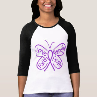 Chiari Malformation Butterfly Inspiring Words T-Shirt