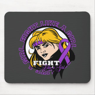 Chiari Malformation Fight Like A Girl Attitude Mousepads