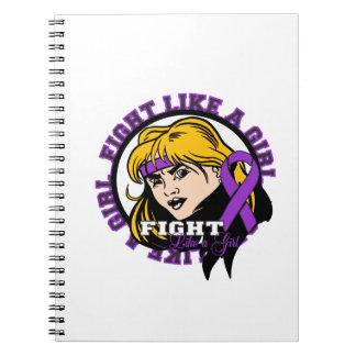 Chiari Malformation Fight Like A Girl Attitude Spiral Notebook