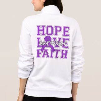 Chiari Malformation Hope Love Faith Survivor Printed Jacket