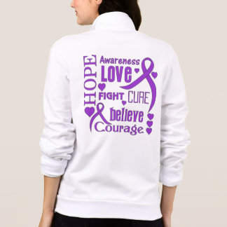 Chiari Malformation Hope Words Collage Printed Jackets