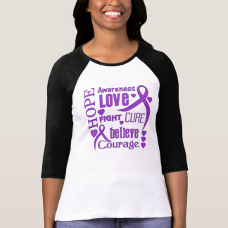 Chiari Malformation Hope Words Collage T-Shirt