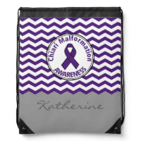 Chiari Malformation Personalized Drawstring Bag