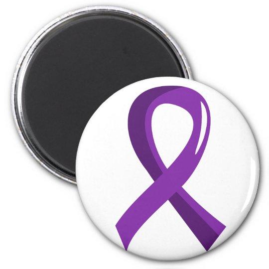 Chiari Malformation Purple Ribbon 3 Magnet