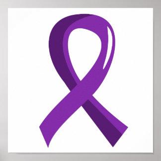 Chiari Malformation Purple Ribbon 3 Poster