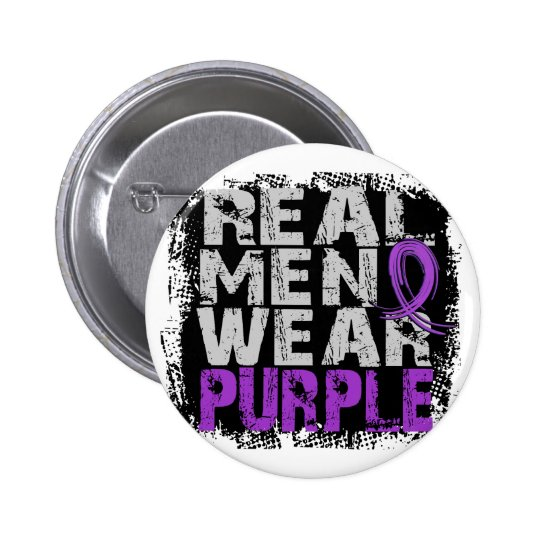 Chiari Malformation Real Men Wear Purple Pinback Button