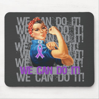Chiari Malformation Rosie WE CAN DO IT Mouse Pads