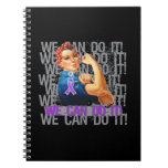 Chiari Malformation Rosie WE CAN DO IT Spiral Notebook