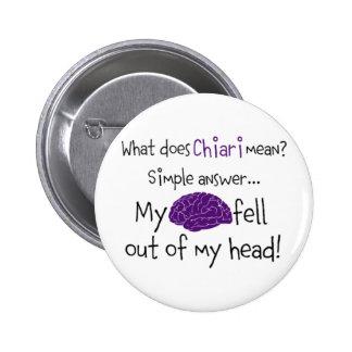 Chiari - My Brain Fell Out Pinback Buttons