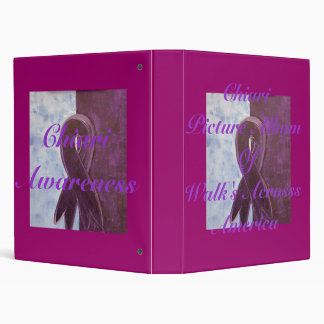 Chiari Picture Album O fWalk's  Acrosss Am... 3 Ring Binder
