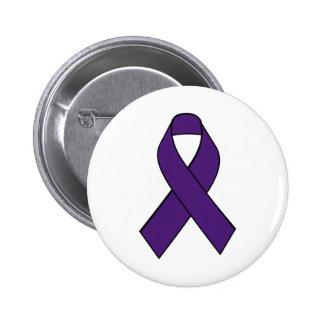 Chiari Purple Awareness Ribbon Button
