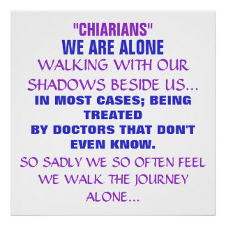 """""""CHIARIANS"""", WE ARE ALONE, POSTER"""