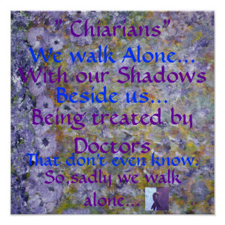 Chiarians WE Walk Alone. Poster