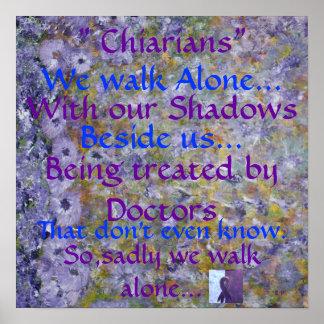 Chiarians WE Walk Alone. Poster