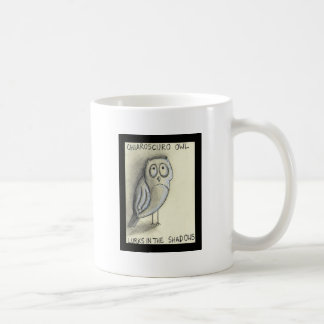 Chiaroscuro Owl Lurks in the Shadows Coffee Mug